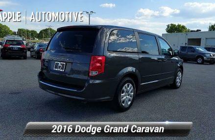Used 2016 Dodge Grand Caravan SE, York, PA 219105P From Moorefield 26836 WV