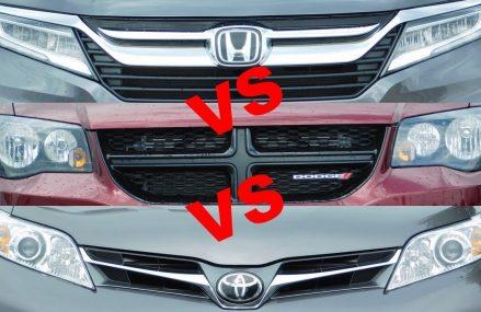 2019 Toyota Sienna vs 2019 Honda Odyssey vs 2019 Dodge Grand Caravan vs 2019 Chrysler Pacifica in Nebo 25141 WV
