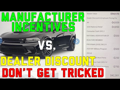 Dealership Discounts vs. Manufacturer Incentives - Power Dollars, Bonus Cash, Employee Pricing, APR 2021