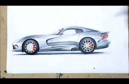 Dodge Viper Drawing at Sportdrome Speedway, Jeffersonville, Indiana 2021