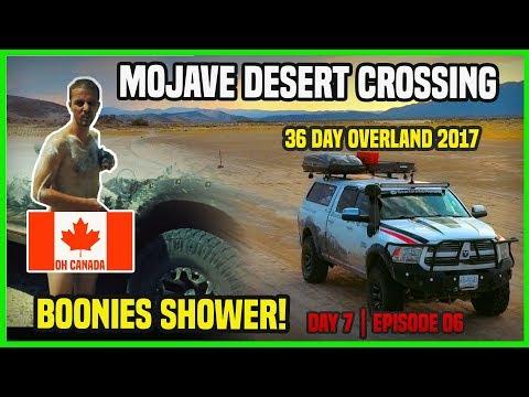 OVERLAND ADVENTURE 36 DAYS     Crossing Mojave desert   road shower   heat issues   part 1   Day 7 Dodge Ram Jacket
